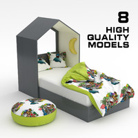 child bed set 01 3D model
