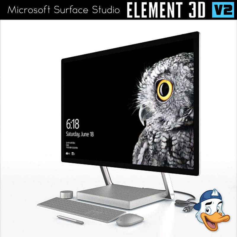 3D model microsoft surface studio element