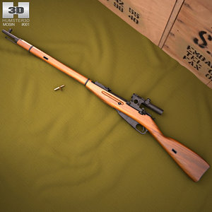 3D mosin nagant 91 model