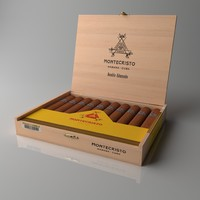 montecristo double edmundo cigars 3D model