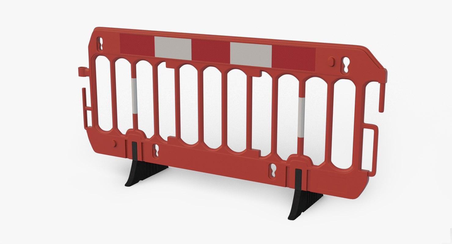 3D roadworks barrier model