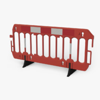 3D roadworks barrier model