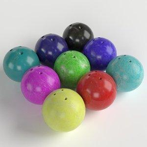 3D bowling balls model