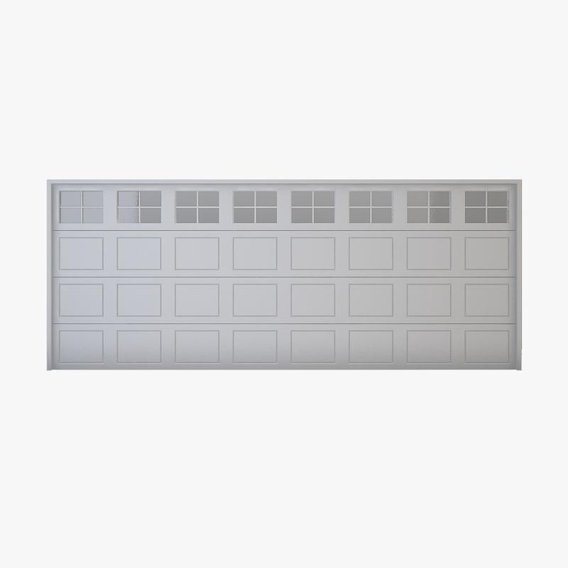 3D garage door 02 model