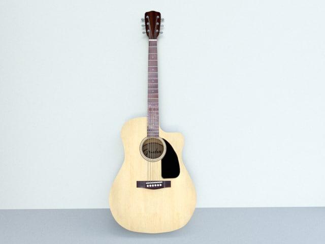 guitar ready 3D model