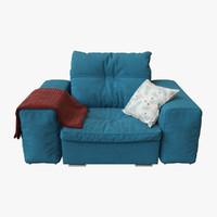 3D gautier domino armchair