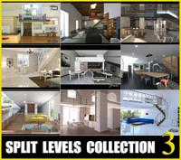 split levels 3D model