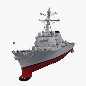 arleigh burke destroyer okane 3D model
