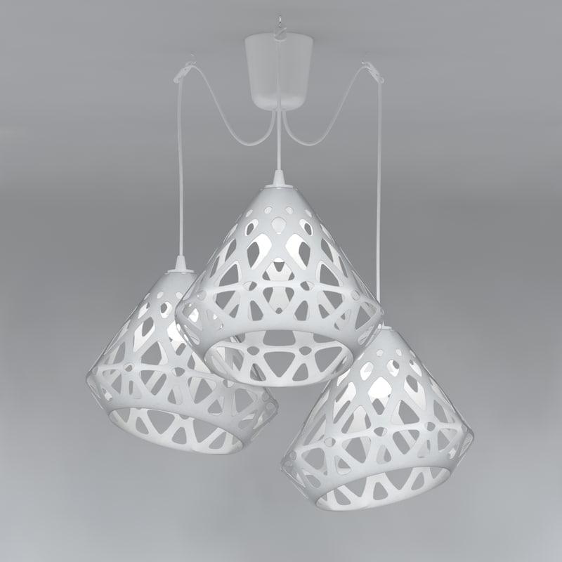 3D chandelier zaha light model