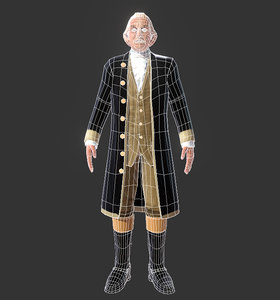 george washington 3D model