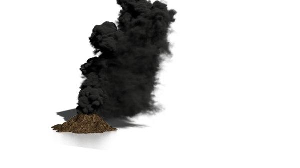 volcano fumefx 3D