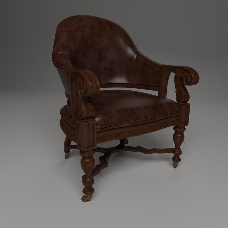 chair casters 3D model