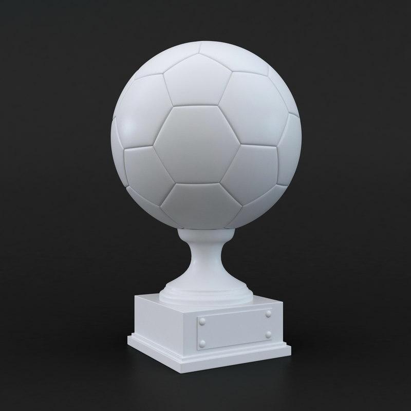 3D football trophy