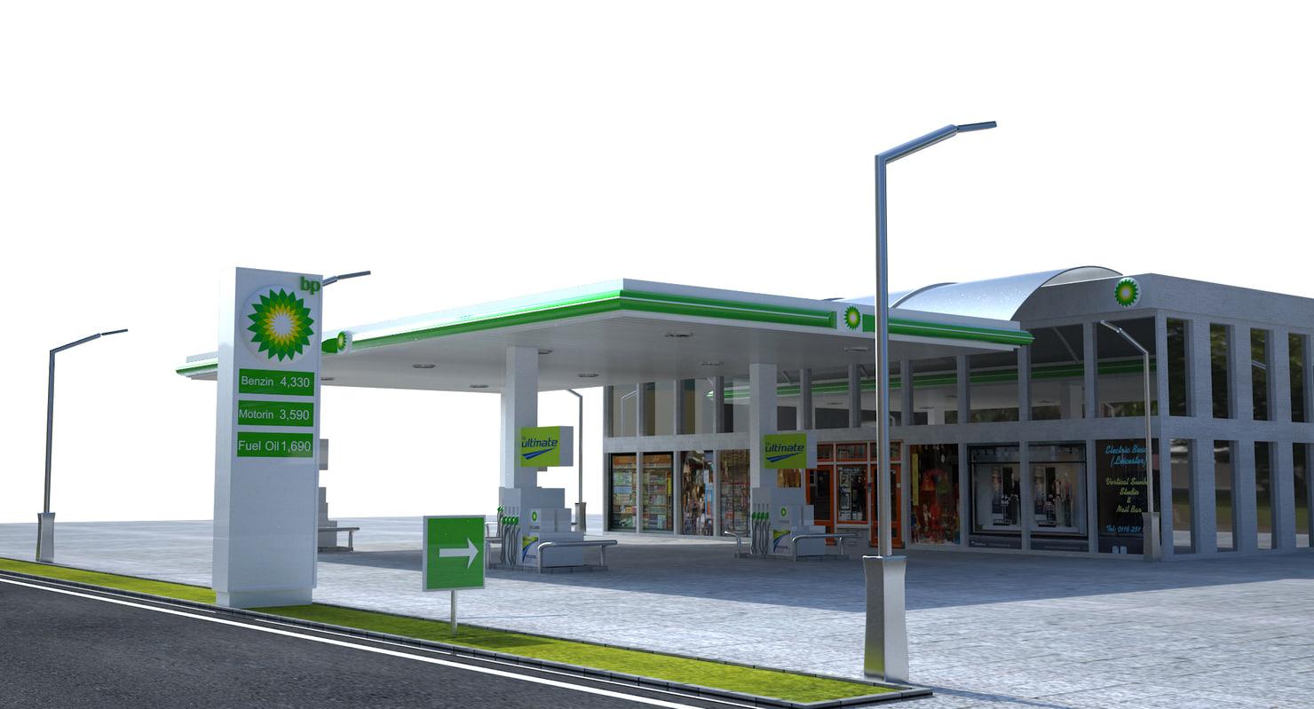 Gas station bp