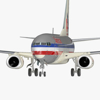 3D boeing 737-700 american airlines model