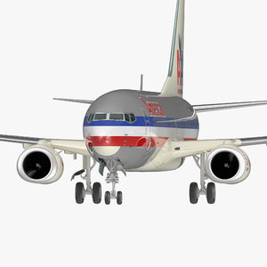 3D boeing 737-700 american airlines model