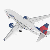 Boeing 737-700 Delta Air Lines Rigged 3D Model