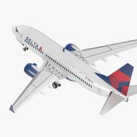 3D model boeing 737-700 delta air lines