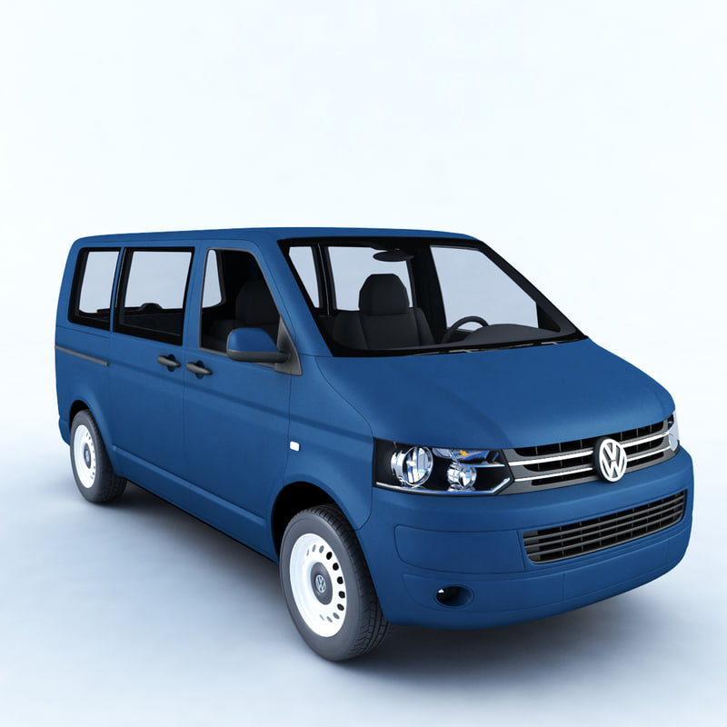 3D car volkswagen transporter model