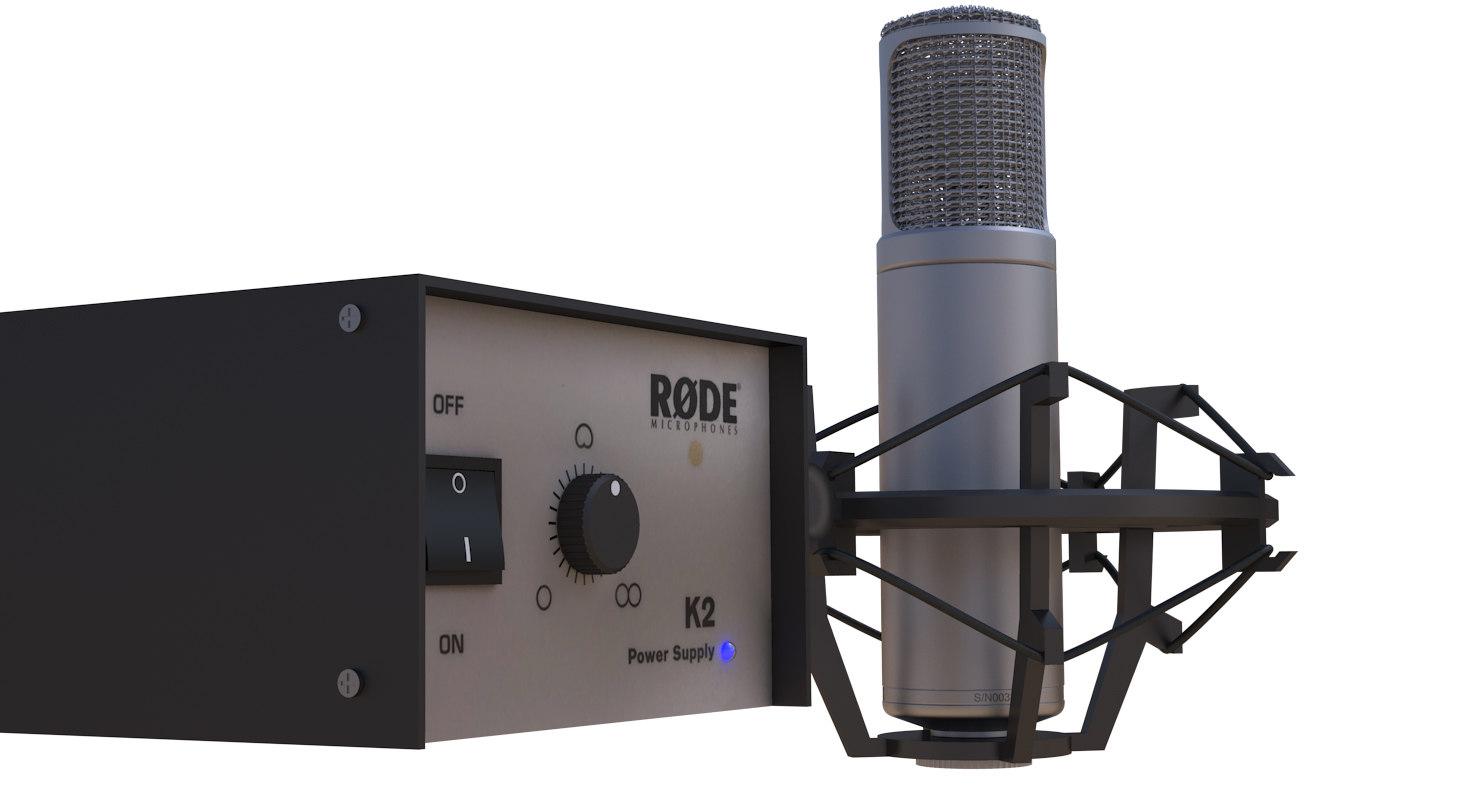 rode k2 condenser microphone 3D model