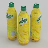 beverage bottle mirinda lemon model