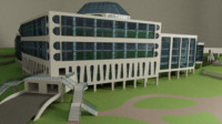 3D science center building model
