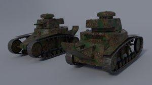 russian t18 light tank 3D model