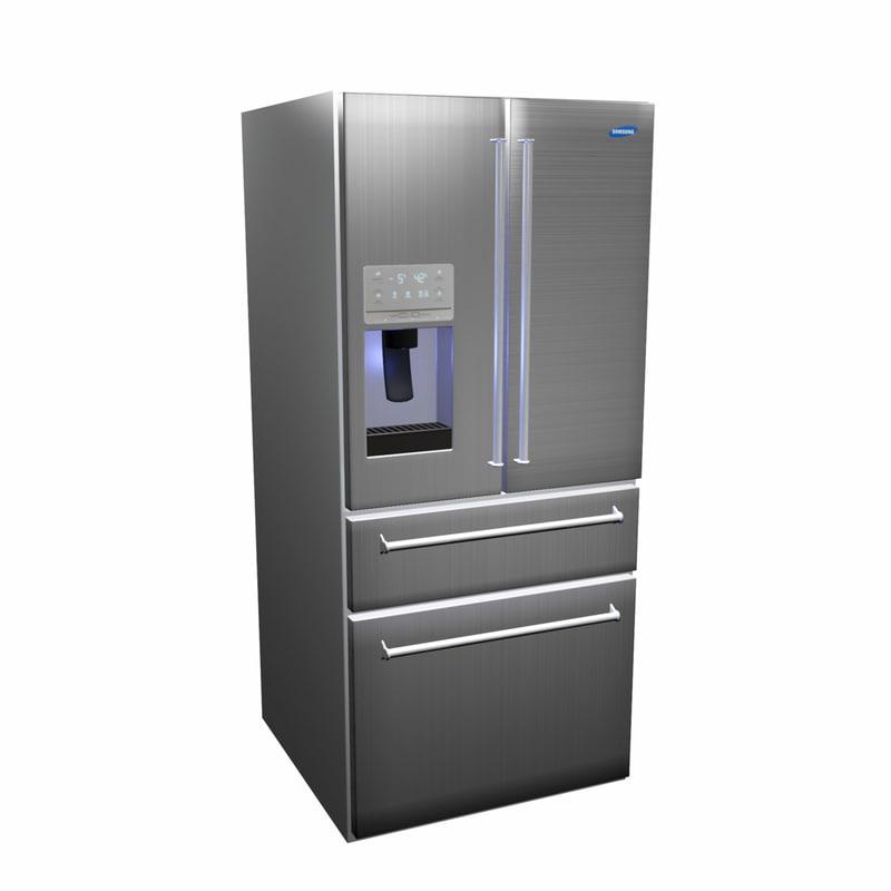 refrigerator design kitchen 3D
