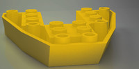 lego boat base plate 3D model