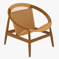 Danish Modern Ringstol Chair by Illum Wikkelso