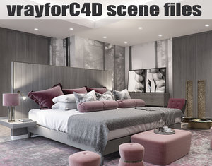 3D vrayforc4d scene files -