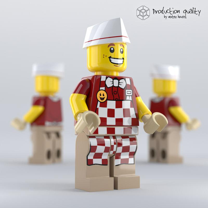 lego hot dog vendor 3D