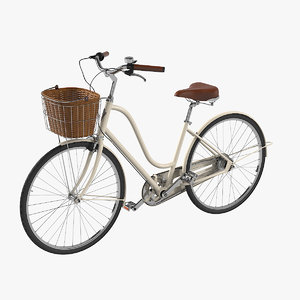 women s bike basket 3D model