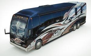 3D model ultra-lowpoly camper prevost