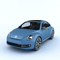 3D car volkswagen beetle 2012