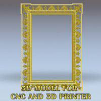 Classic frame - High quality 3D models for CNC