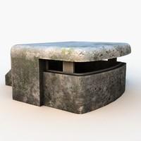 ww2 bunker 3D