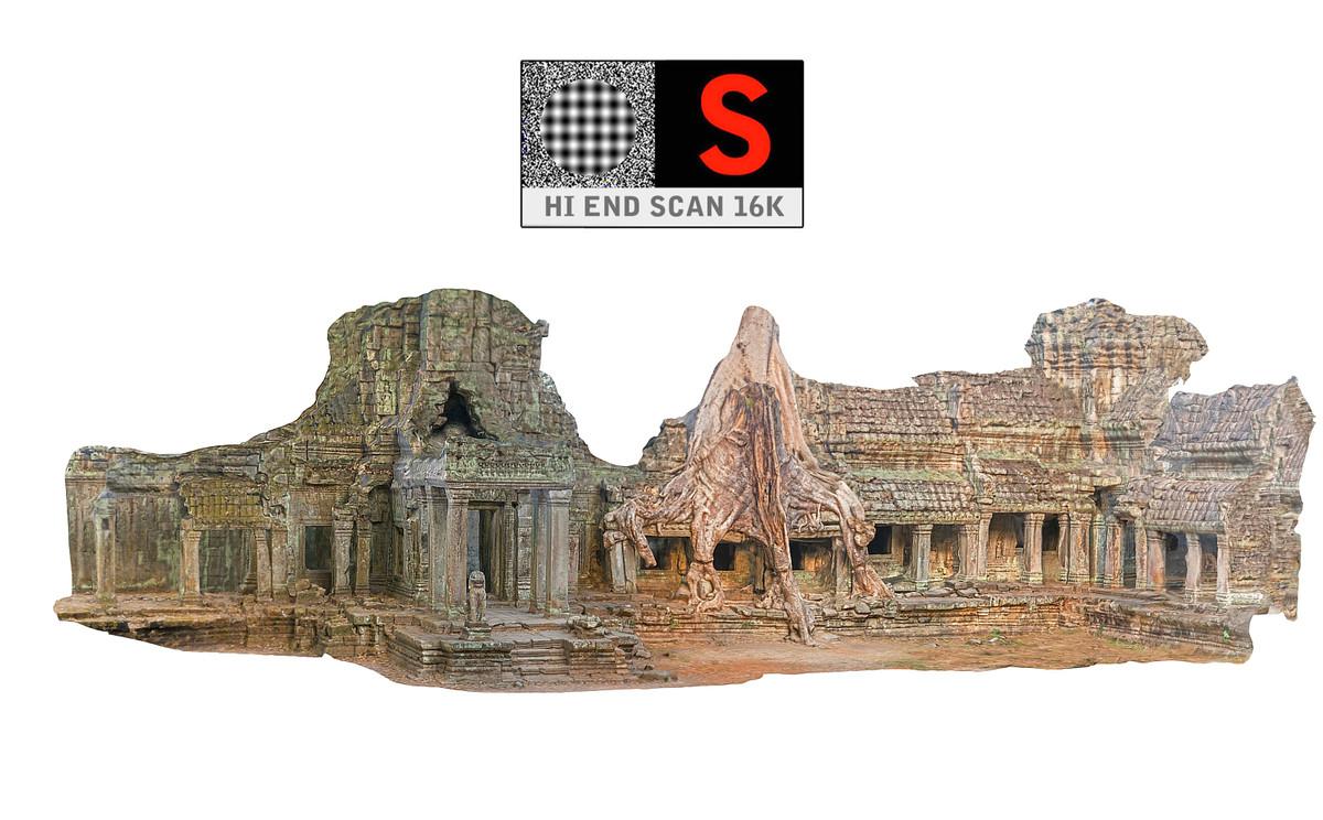 3D ancient temple 16 k
