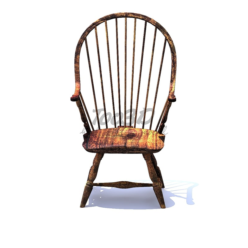 3D windsor chair