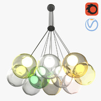 10 bubbles chandelier 3D