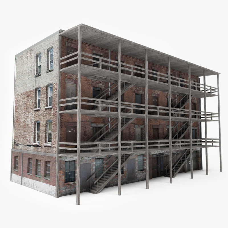 ready old city building 3D model