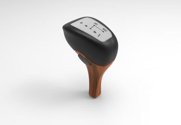 3D model wooden gear shift stick