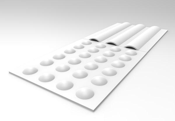 guiding tiles 3D model