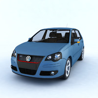 car volkswagen polo gti 3D model