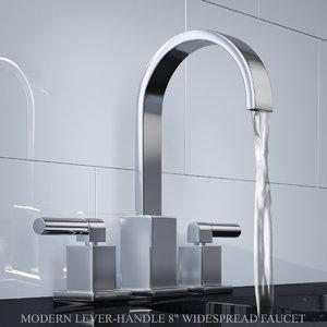 3D modern lever-handle 8in widespread