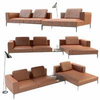 3D sofa jaan living walter knoll