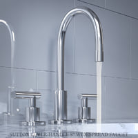 sutton lever-handle 8in widespread 3D model