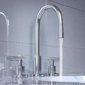 sutton lever-handle 8in widespread 3D model