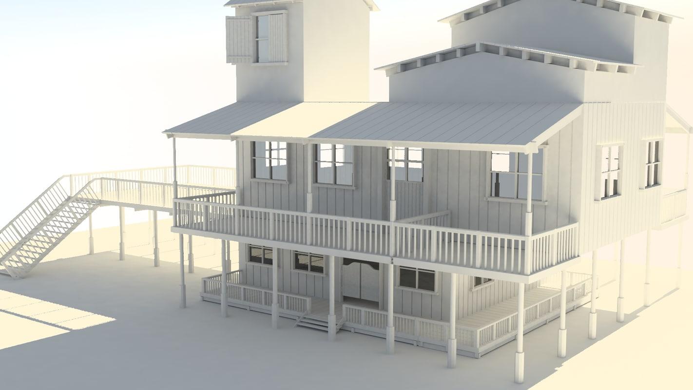 woods build house 3D
