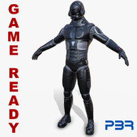 ready sci-fi soldier 3D model